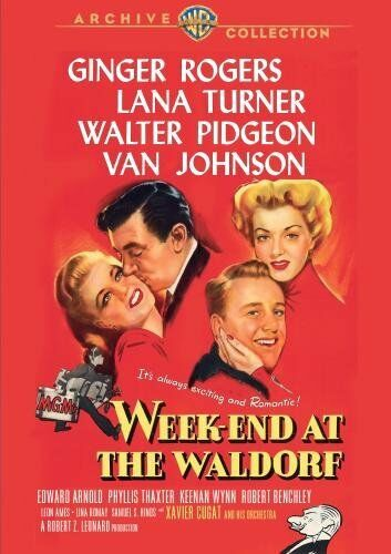 WEEK-END AT THE WALDORF (1945 Ginger Rogers)  Region Free DVD - Sealed