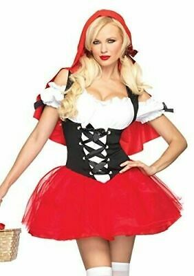 Leg Avenue Women's Racy Red Riding Hood Costume, Red/Black, Small/Medium - Racy Red Riding Hood Kostüm
