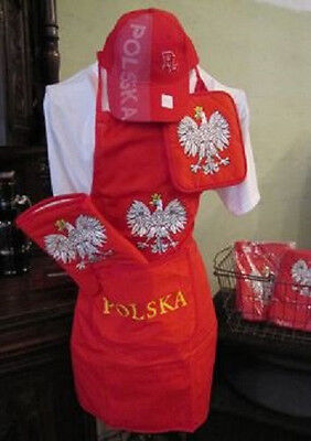 (NEW) Polish Poland Polska BBQ Barbeque Apron Set (hat not included)