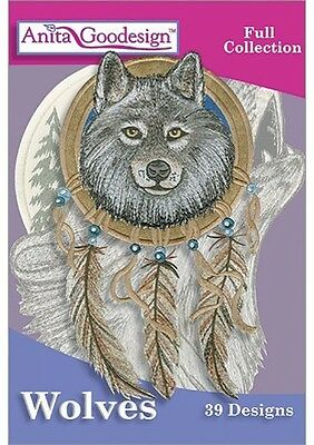 Anita Goodesign Wolves Embroidery Machine Design CD
