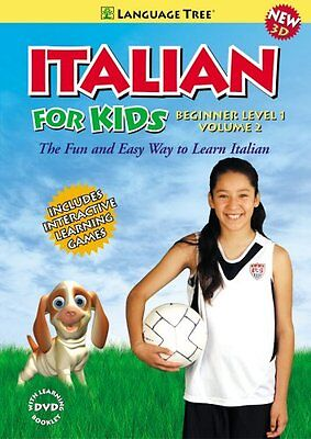 Kids Italian Beginner Level I Vol. 2 - Italian Learning 3d Dvd For Children Tree