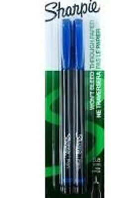 Sharpie Fine 0.8mm Pen - Blue 2ct