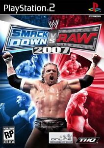jeu game WWE Smackdown vs Raw 2007 - sony PlayStation 2 ps2