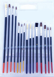 15 PAINT Brush Set All Purpose Oil Watercolor Acrylic ART CRAFT ARTIST PAINTING