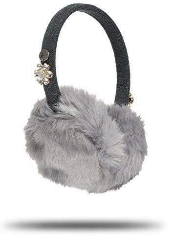 KitSound Faux Fur Jewel Kids On-Ear Earmuffs Built In Headphones iPod iPhone MP3