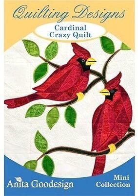 Cardinal Crazy Quilt Anita Goodesign Embroidery Designs