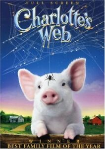 Charlotte's Web DVD-Full Screen Version-Excellent condition + bo