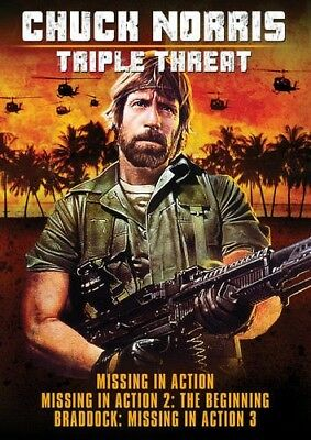 CHUCK NORRIS TRIPLE THREAT DVD Missing in Action i NEW Action 1st Class Shipping