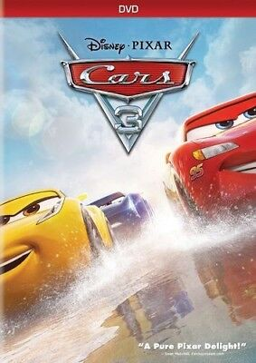 Cars 3 (DVD 2017) Disney Factory Sealed NEW Family Animation with Slipcover