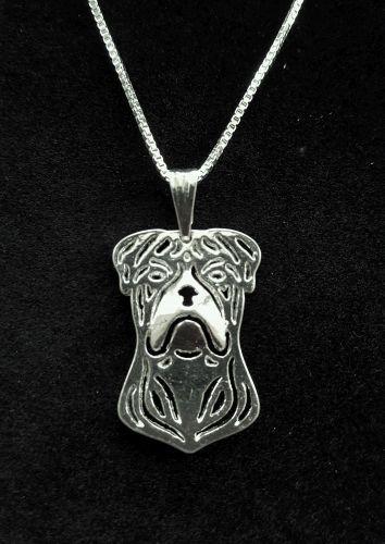 "American Bulldog, Dog Cute necklace 18"""