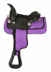 "8"" Western Saddle Miniature Horse Pink Teal Purple DEAL New London Ontario image 3"