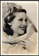 Loretta Young Signed