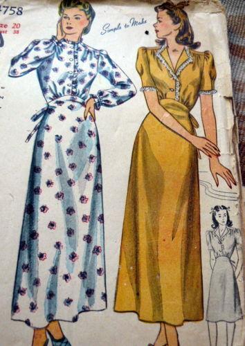 Vintage nightdress pattern