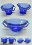 Blue Depression Glass Creamer