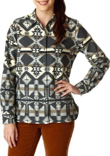 Woolrich Womens Shirt Flannel Regular Fit Size S Long Sleeve