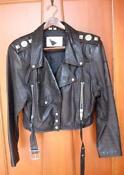 Womens Vintage Leather Biker Jacket