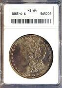 1883 O Morgan Silver Dollar MS64