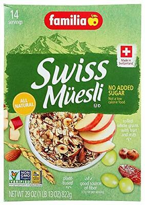 Familia Swiss Muesli No Added Sugar, 29 Ounce (Pack of 2)