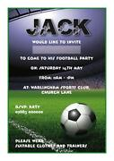 Personalised Football Invitations