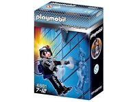 An assortment of Playmobil hardly played with.