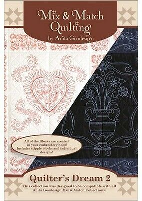 Anita Goodesign Quilter's Dream 2 Embroidery Machine Design CD