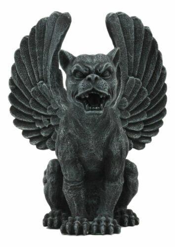 "Winged Lioness Gargoyle Statue 6.5""Tall Safari Giant Cat Feline Lion Notre Dame"