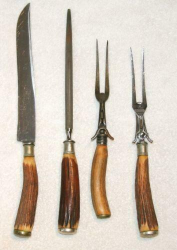 Antler Carving Set Collectibles Ebay