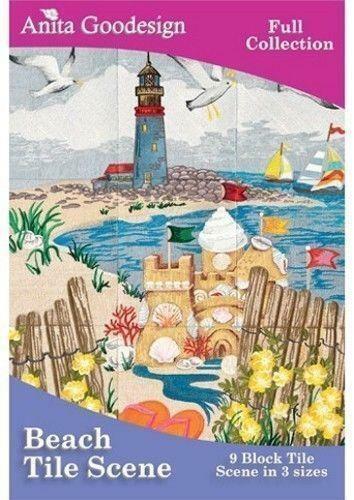 Anita Goodesign Beach Tile Scenes Embroidery Machine Design CD NEW 143AGHD