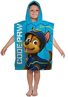 Paw Patrol Spy Boys Swimming Summer Beach Bath Hooded Poncho Towel