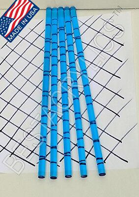 5 Clear Blue 38 Diameter 12 Inch Long Acrylic Plexiglass Lucite Color Rod