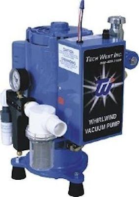New Tech West Dental Whirlwind 1.5 Hp Liquid Wet Liquid Ring Vacuum 2 Users Pump