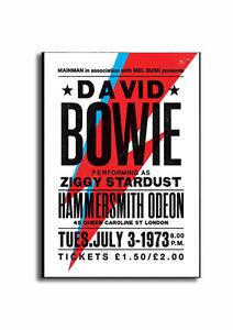 DAVID BOWIE Sign! OLD 1973 POSTER, TICKET DAVID BOWIE MEDIUM SIZE Wooden Plaque