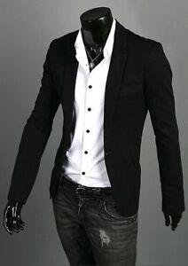 Stylish Men's Slim fit Casual One Button Suit Blazer Coat Jackets 5 Sizes/Colors