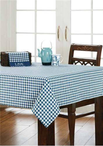 Blue And White Tablecloth Ebay