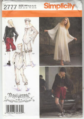 NEW SIMPLICITY PATTERN 2777 STEAMPUNK ARKIVESTRY GOTHIC COSPLAY MISSES' 14-22
