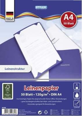 Leinenpapier A4 Bewerbungen Chroniken Laserdrucker Inkjetpapier Leinenstruktur