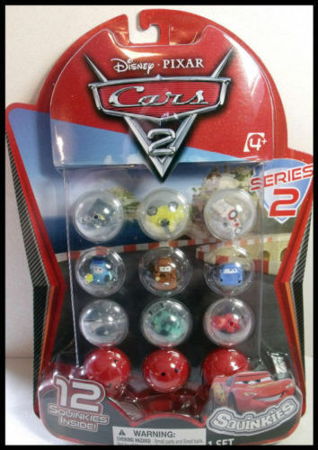 DISNEY CARS 2 SQUINKIES 12 PACK  SERIES #2. FACTORY SEALED P