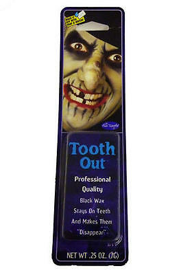 Black Out Tooth Wax Vampire Fancy Dress Halloween (Black Tooth Wax Halloween)