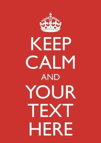 Keep calm poster ebay for Keep calm font