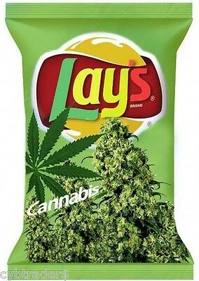 Funny Weed Cannabis Chips  Refrigerator / Tool Box / Locker /  Magnet