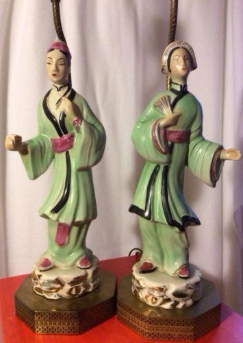 Asian Figurine Lamp Ebay