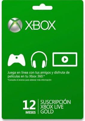 Código - Xbox Live Gold 12 Meses | 1 año Suscripción |...