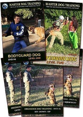 Obedience & Bodyguard Instructional Dog Training Videos - 5 DVD Set in English