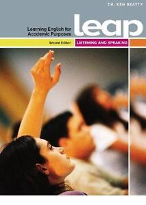 UNBSJ textbook for ESL, Leap Listening and Speaking.