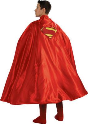 ADULT RED SUPERMAN CAPE MAN OF STEEL SUPER MAN SUPERHERO COSTUME CAPE 888202 - Superman Cape Adults