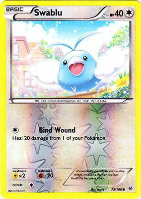Pokemon SWABLU 73/108 COMMON REVERSE HOLOFOIL NM CARD ROARING SKIES