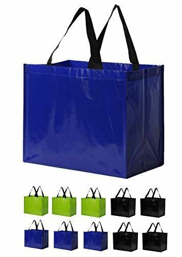 Earthwise Reusable Grocery Bags Heavy Duty Extra Large Eco Friendly (Set of 10)
