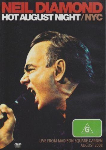 NEIL DIAMOND HOT AUGUST NIGHT/NYC LIVE FROM MADISON SQ. DVD ALL REGION NTSC NEW
