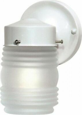 "Nuvo 76-702 - 6"" Porch Light Outdoor Wall Light with Frosted Glass Mason Jar"