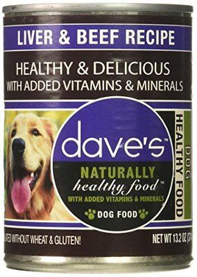 NEW Dave'S Naturally Healthy, Liver & Beef For Dogs, 13 Oz Can (Case Of 12 )